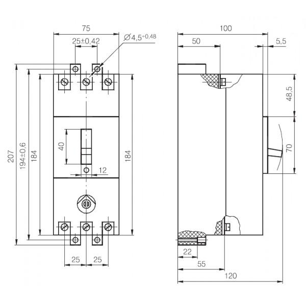 Автоматичний вимикач АЕ 2046 1,6-63 А