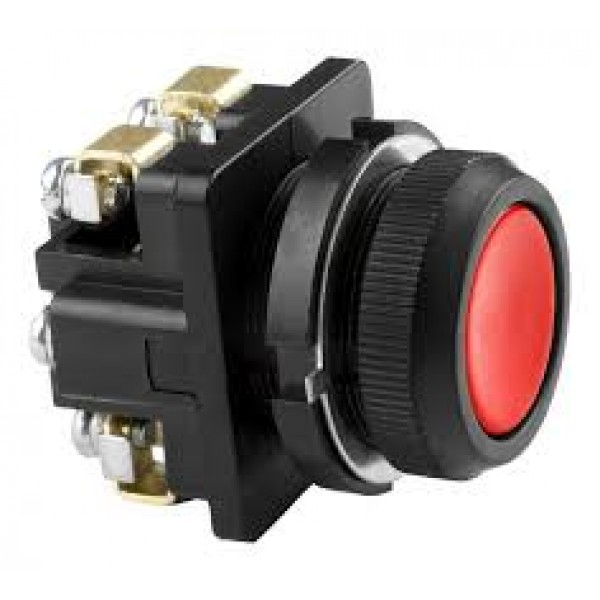 Кнопка КЕ 011 червона, чорна