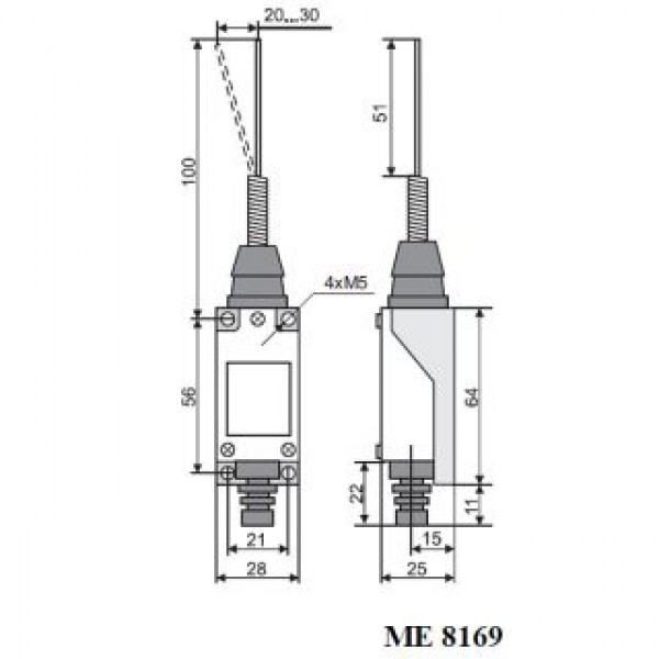 Вимикач кінцевий МЕ-8169