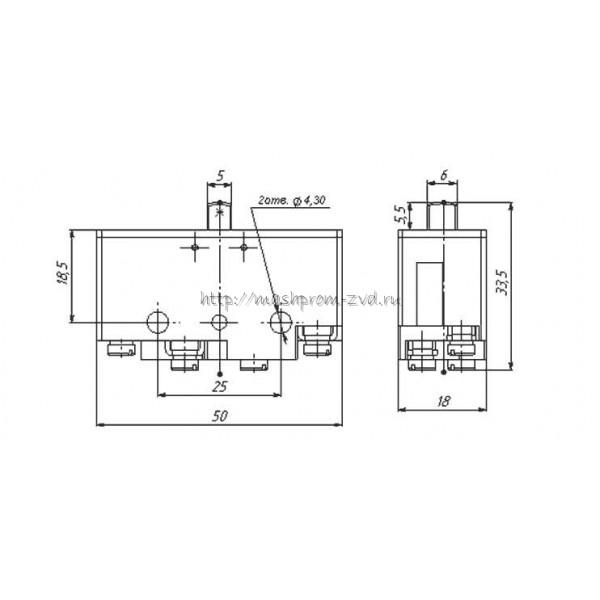 Микропереключатель ВП73-21-10111 (аналог МП-1101)