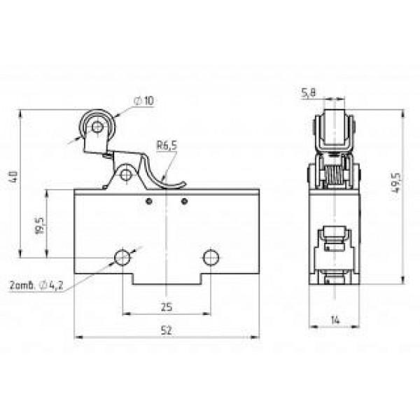 Микропереключатель ВП73-21-10611 (аналог МП-1107)