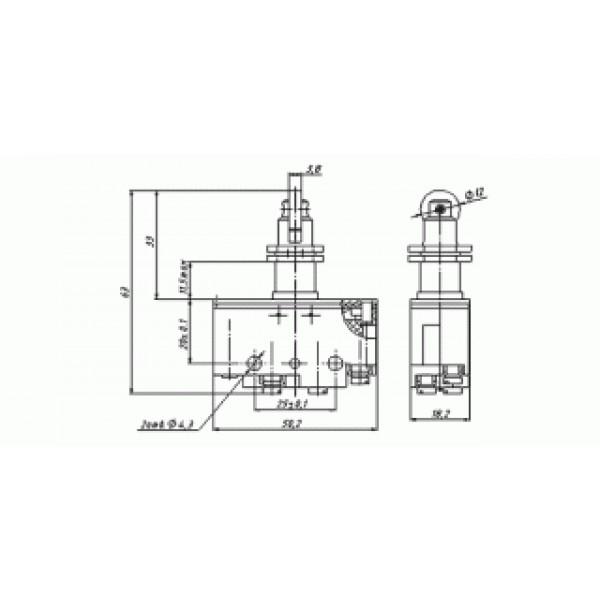 Мікроперемикач ВП73-21-11332 (аналог МП-1105)